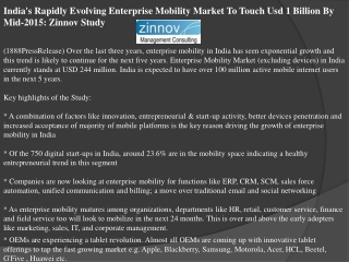 india's rapidly evolving enterprise mobility market to touch