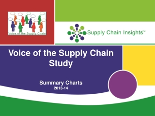 Voice of the Supply Chain Study Summary Charts 2013-14