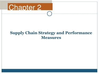 Supply Chain Strategy and Performance Measures