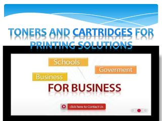 toners and cartridges for printing solutions