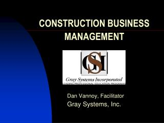 CONSTRUCTION BUSINESS MANAGEMENT