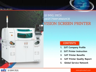 SJ INNO TECH  HIGH PERFORMANCE VISION SCREEN PRINTER