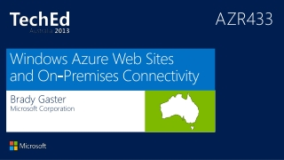 Windows Azure Web Sites and On-Premises Connectivity