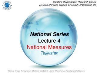 National Series Lecture 4 National Measures Tajikistan