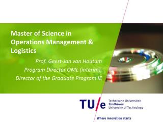 Master  of  Science  in Operations  Management &  Logistics