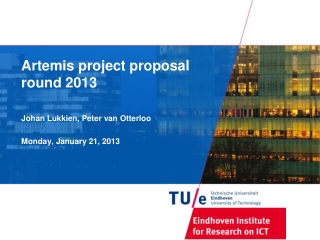 Artemis project  proposal round 2013