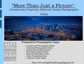 Professional Photographers in Dubai