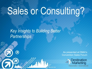 Sales or Consulting?