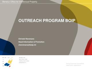 OUTREACH PROGRAM BOIP