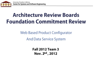 Architecture Review Boards Foundation Commitment Review