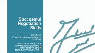 Successful Negotiation Skills
