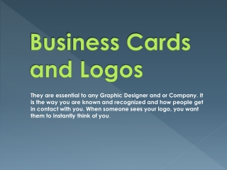 Business Cards and Logos