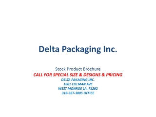 Delta Packaging Inc.