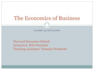 The Economics of Business