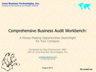 Comprehensive Business Audit Workbench: A Money-Making Opportunities Searchlight  for Your Company