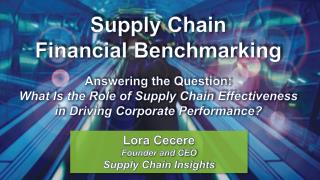 Lora Cecere Founder and CEO Supply Chain Insights