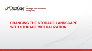 CHANGING THE STORAGE LANDSCAPE WITH STORAGE VIRTUALIZATION