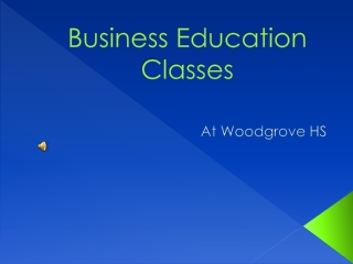 Business Education Classes