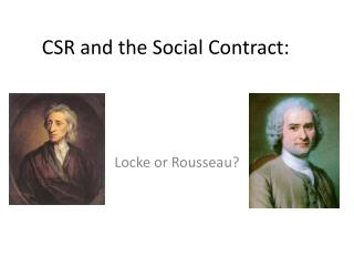 CSR and  the  Social  Contract :