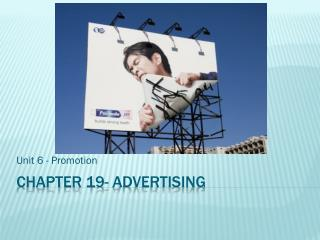 Chapter 19- Advertising