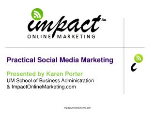 Practical Social Media Marketing