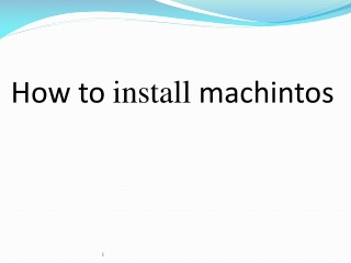 How to  install machintos