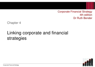 Chapter 4 Linking corporate and financial strategies