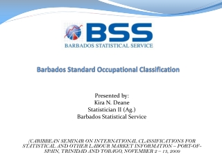 Barbados Standard Occupational Classification