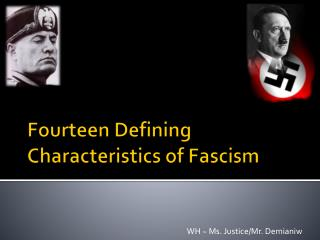 Fourteen Defining Characteristics of Fascism