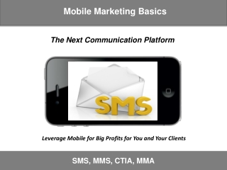 Mobile Marketing Basics