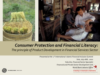 Consumer Protection and Financial Literacy: The principle of Product Development in Financial Services Sector