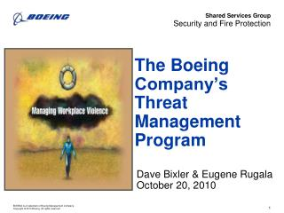 The Boeing Company's Threat Management Program
