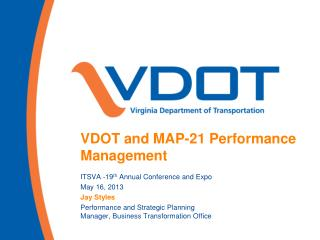 VDOT and MAP-21 Performance Management