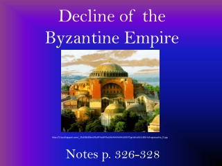 Decline of the Byzantine Empire