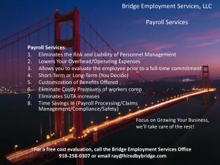 Bridge Employment Services, LLC Payroll Services