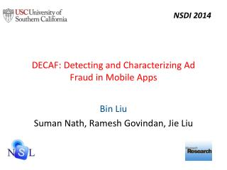 DECAF:  Detecting and Characterizing Ad Fraud in Mobile Apps