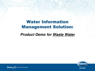Water Information  Management Solution:  Product Demo for  Waste Water