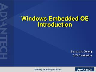 Windows Embedded OS Introduction