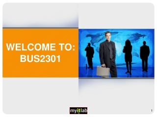 WELCOME TO: BUS2301