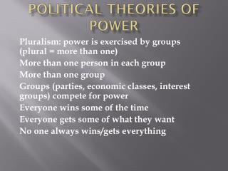 Political theories of power