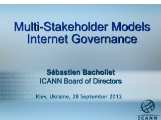 Multi-Stakeholder Models Internet Governance