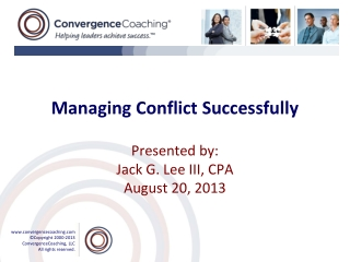Managing Conflict Successfully