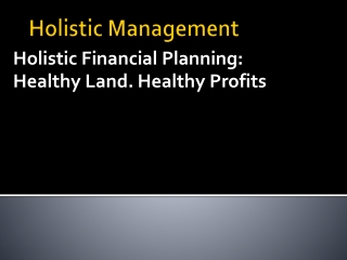 Holistic Management