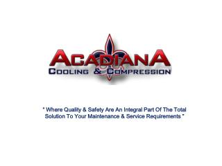""" Where Quality & Safety Are An Integral Part Of The Total Solution To Your Maintenance & Service Requirements"