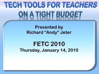 Tech Tools for  Teachers On a Tight Budget