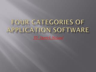 Four Categories Of Application Software