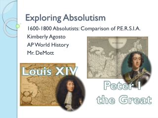 Exploring Absolutism