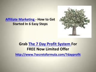 Affiliate Marketing - How to Get Started In 6 Easy Steps