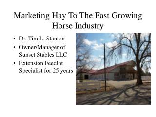 Marketing Hay To The Fast Growing Horse Industry