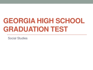 Georgia High School Graduation Test